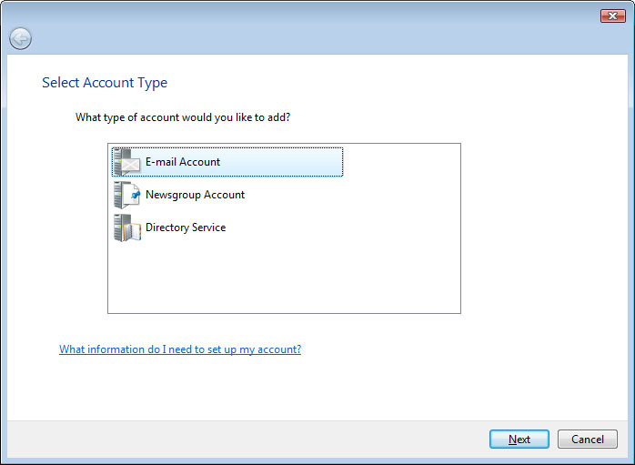 Select Account Type