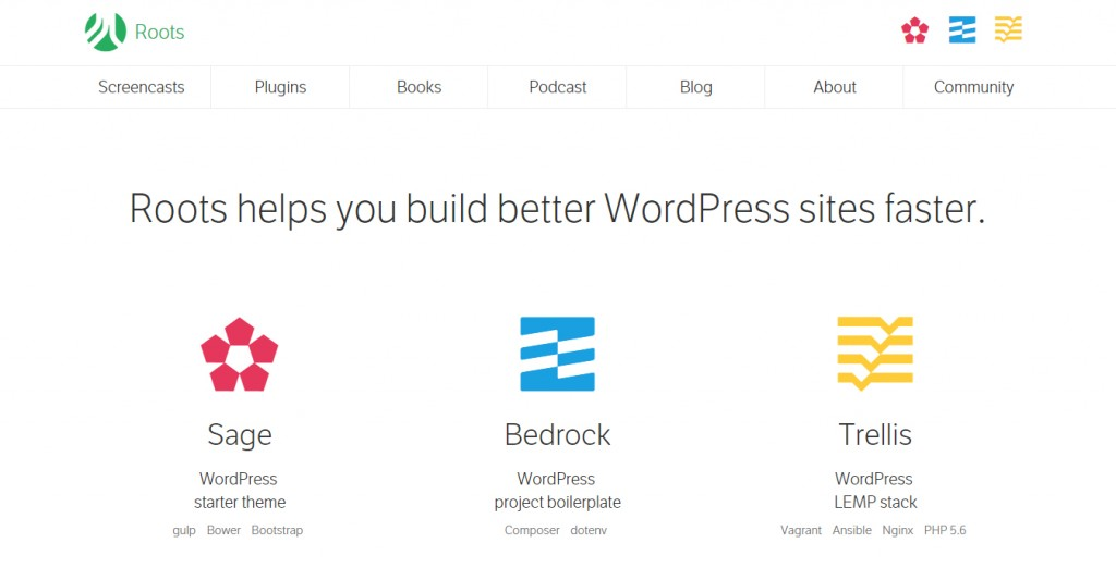 Roots Starter WordPress Theme