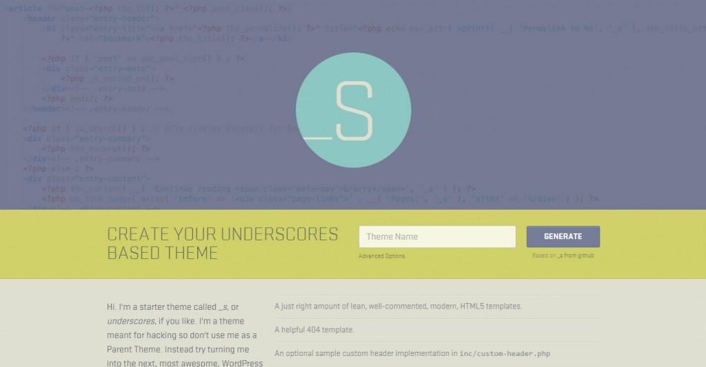Underscores WordPress Starter Theme