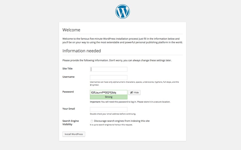 Beginners Install WordPress